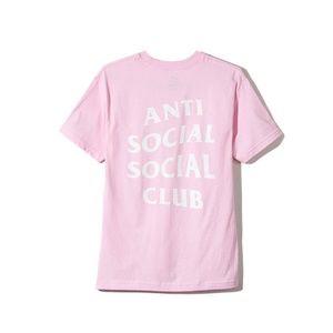 Anti social social club tee pink